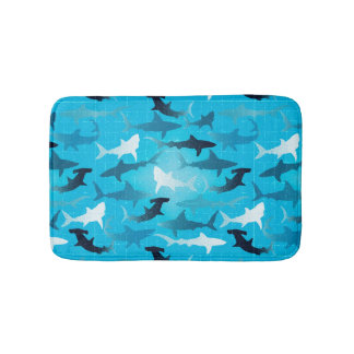 sharks! bath mat