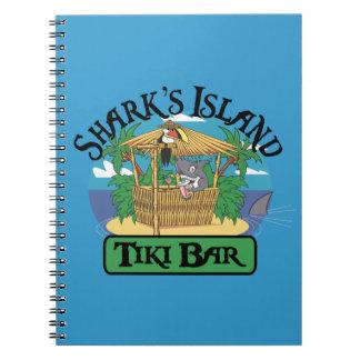 Shark's Island Tiki Bar Notebook