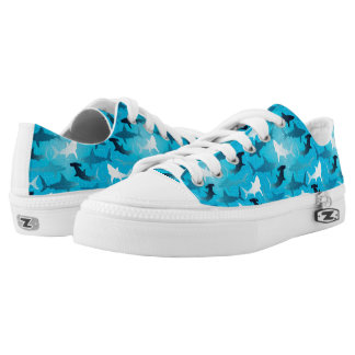 sharks! printed shoes
