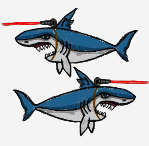 sharks with lasers gifts on zazzle nz