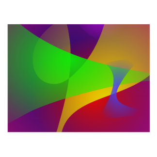 Sharp Contrast Vivid Color Abstract Post Card