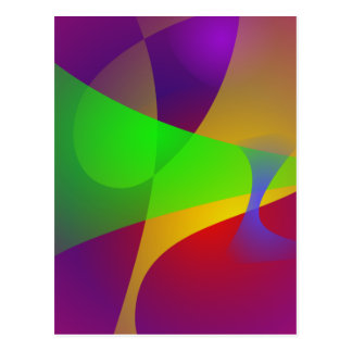 Sharp Contrast Vivid Color Abstract Post Cards