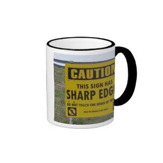Sharp edges ringer mug