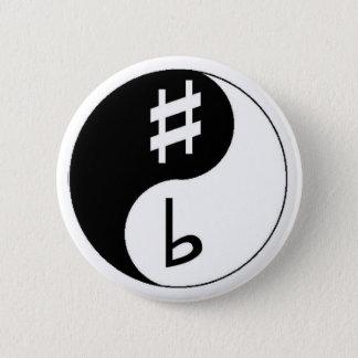 Sharp & Flat - Ying & Yang 6 Cm Round Badge