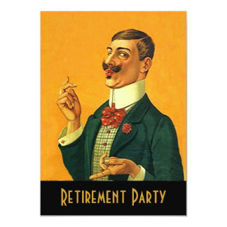 Sharp Gentleman Retirement Party Invitations annou