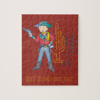 Sharp Shootin' Cowboy Rusty Jigsaw Puzzle
