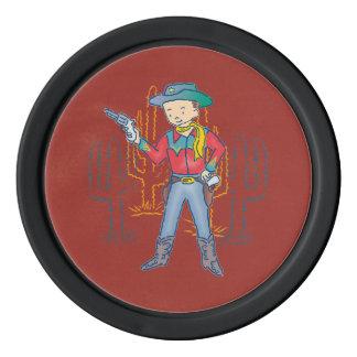 Sharp Shootin' Cowboy Rusty Poker Chips