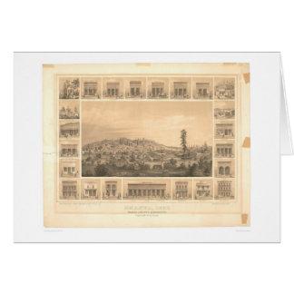 Shasta, CA. Panoramic Map 1856 (1612A) Greeting Card