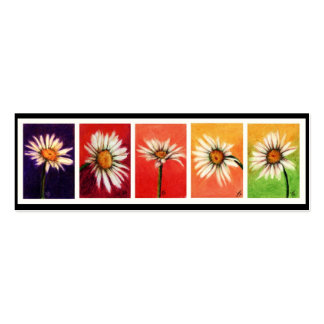 Shasta Daisies Bookmarks Business Card Template