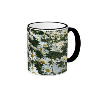 Shasta Daisies Ringer Mug