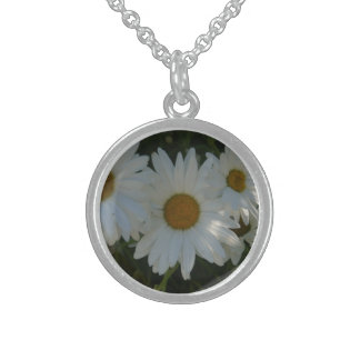 Shasta Daisy Sterling Silver Necklace
