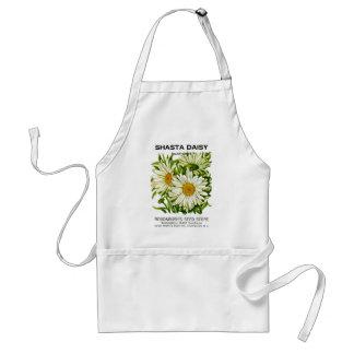 Shasta Daisy Vintage Seed Packet Adult Apron