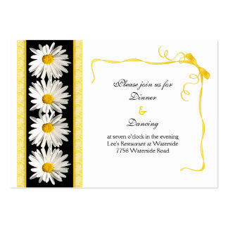 Shasta Daisy Wedding Reception Card Pack Of Chubby Business Cards