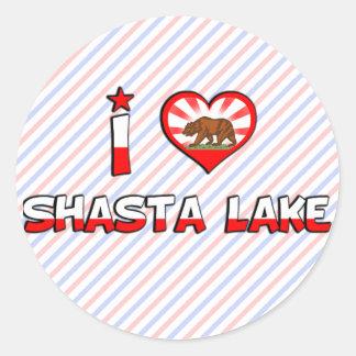 Shasta Lake, CA Round Stickers