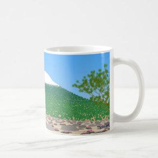 shasta on a clear day basic white mug