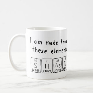 Shasta periodic table name mug