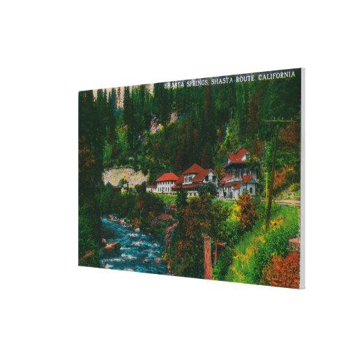 Shasta Springs on the Shasta RouteShasta, CA Gallery Wrapped Canvas