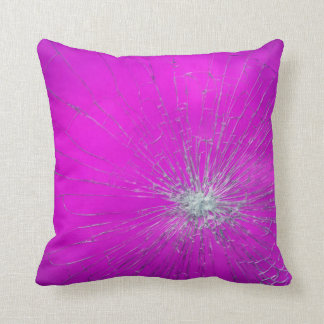 Shatter Pink Throw Pillow