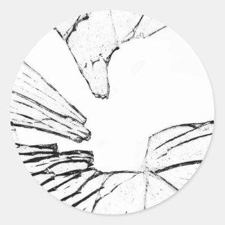shattered classic round sticker