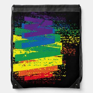 Shattered Colors Drawstring Bag