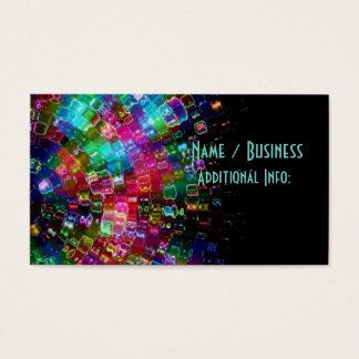 Shattered Glass Spiral Business Card 2