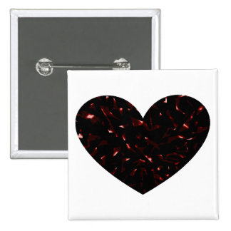 Shattered Heart 15 Cm Square Badge