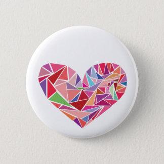Shattered heart 6 cm round badge