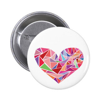 Shattered heart 6 cm round badge