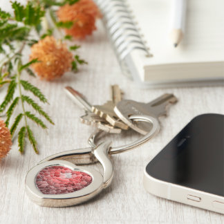 shattered heart key ring