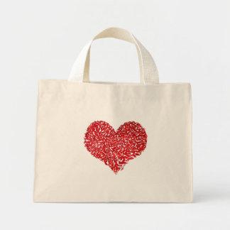 Shattered Heart Mini Tote Bag