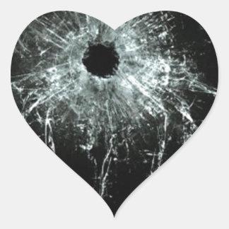Shattered Heart Sticker