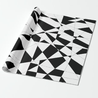 Shattered Life in Black & White Wrapping Paper