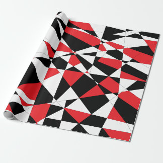 Shattered Life Tricolor Wrapping Paper