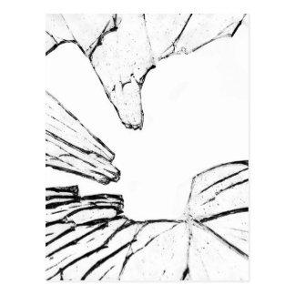 shattered postcard