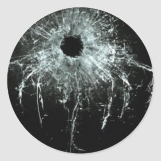 Shattered Round Sticker