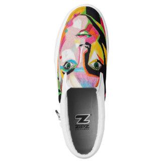 Shattered together slip on shoes