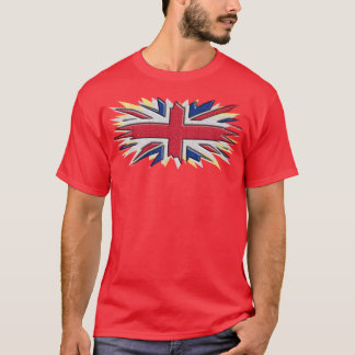 Shattered uk flag - T-shirt