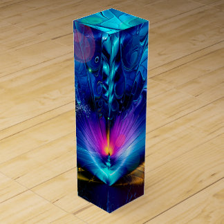 Shattering Abstract Wine Bottle Boxes