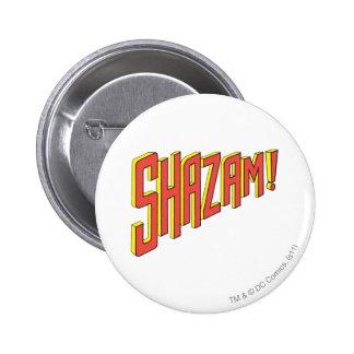 Shazam Logo Red/Yellow 6 Cm Round Badge