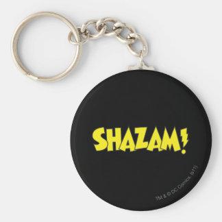Shazam Logo Yellow Basic Round Button Key Ring