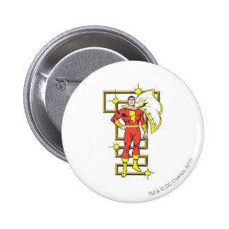 SHAZAM Poses 6 Cm Round Badge