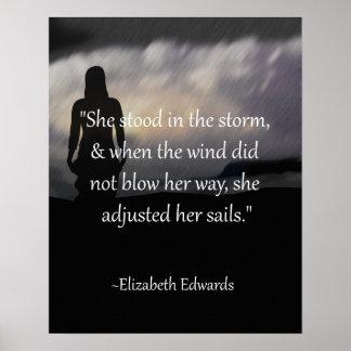 She Adjusted Her Sails Inspirational Poster