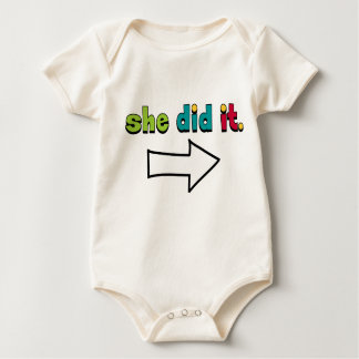 She Did It (1 of 2) Right Arrow: Organic Baby Bodysuit