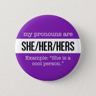 She/Her Pronouns – Gender Creative Flag 6 Cm Round Badge