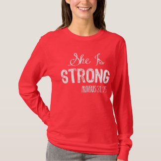 She Is Strong Christian Women's Shirt
