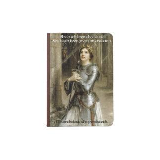 She Persisteth - Joan D'Arc Passport Holder