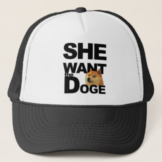 She want the Doge Trucker Hat