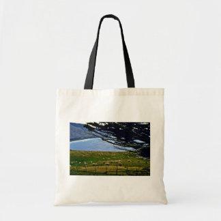 Sheep Grazing, Christchurch Area, South Island Canvas Bag