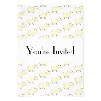 Sheep Pattern. Invite
