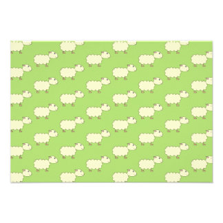 Sheep Pattern. Personalized Invite